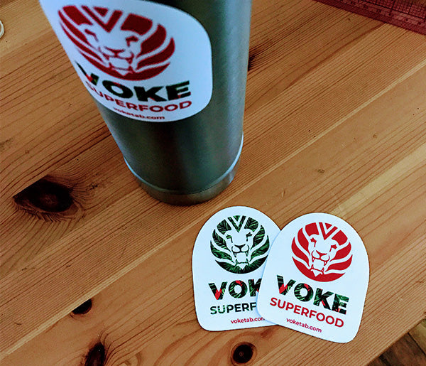 Voke Tab Logo 3 Inch Sticker Pack (Qty 2)