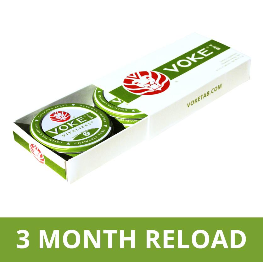Voke-A-Day Reload 3 Month Pre Pay - Get 1 Month Free!