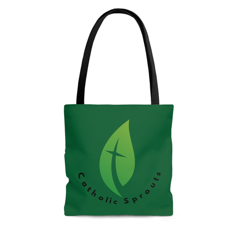 Catholic Sprouts Tote Bag GREEN