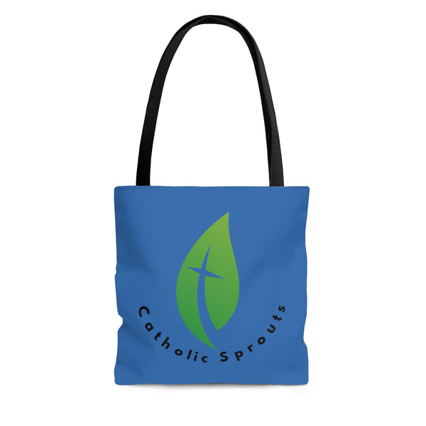 Catholic Sprouts Tote Bag BLUE