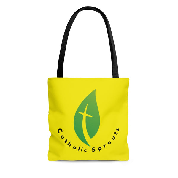 Catholic Sprouts Tote Bag YELLOW