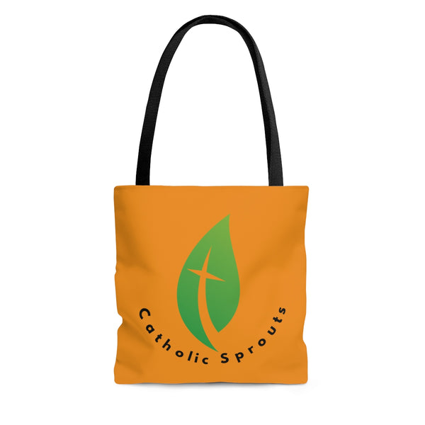 Catholic Sprouts Tote Bag ORANGE