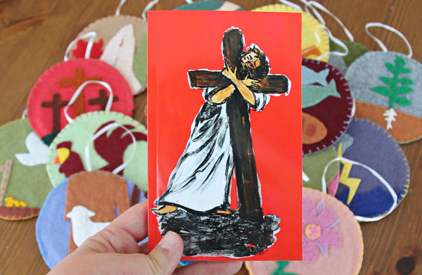 Jesus Tree Lenten Booklet (Matthew) FELT Ornaments Patterns