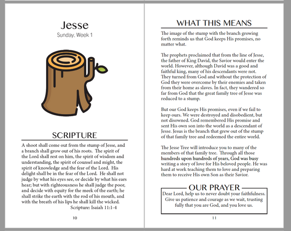 Jesse Tree Booklet for LARGE GROUP USE