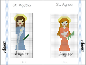 Saints of the Catholic Church in Cross Stitch DIGITAL ONLY