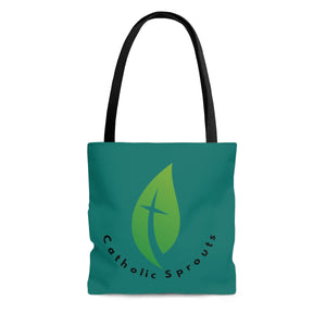 Catholic Sprouts Tote Bag TEAL