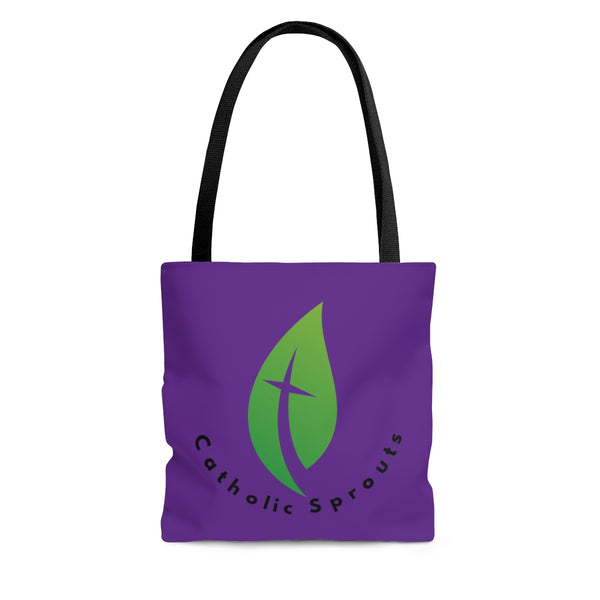 Catholic Sprouts Tote Bag PURPLE