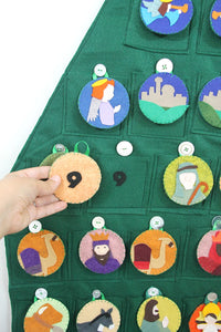 Nativity Themed Advent Calendar Felt Pattern