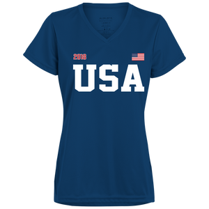 USA USA USA Augusta Ladies' Wicking T-Shirt