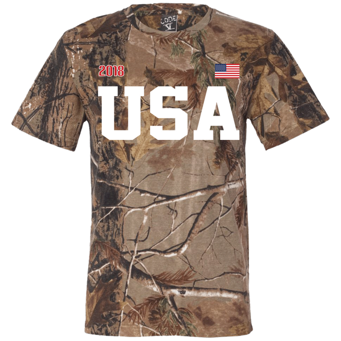 USA CAMO UP Short Sleeve Camouflage T-Shirt