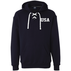 "USA  American  ""CLASSIC"" Deckmate  Heavyweight Sport Lace Embroidered Hoodie"