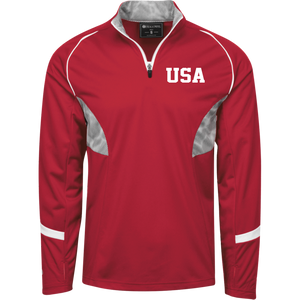 USA USA USA Sport 1/4 Zip Polyester Pullover with Camo Inserts