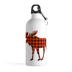 "PC⚡BC ""ROCKO"" GINGHAM  PLAID MOOSE 🌊 stainless steel water bottle"