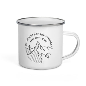 MOUNTAINS ARE FOR EVERYONE 💓  camp style enamel mug