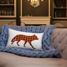 WOLF of WASATCH on the Prowl Premium Throw Pillow