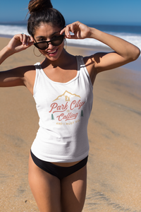 """PARK CITY is CALLING"" > women's Tri-Blend Racerback Tank"