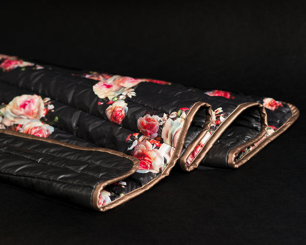 Black Rose Garden Throw Blanket