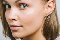 Aurore Havenne Gold 18K Inside Out Earrings Diamant bijou simple élégant minimaliste joaillerie fine jewelry