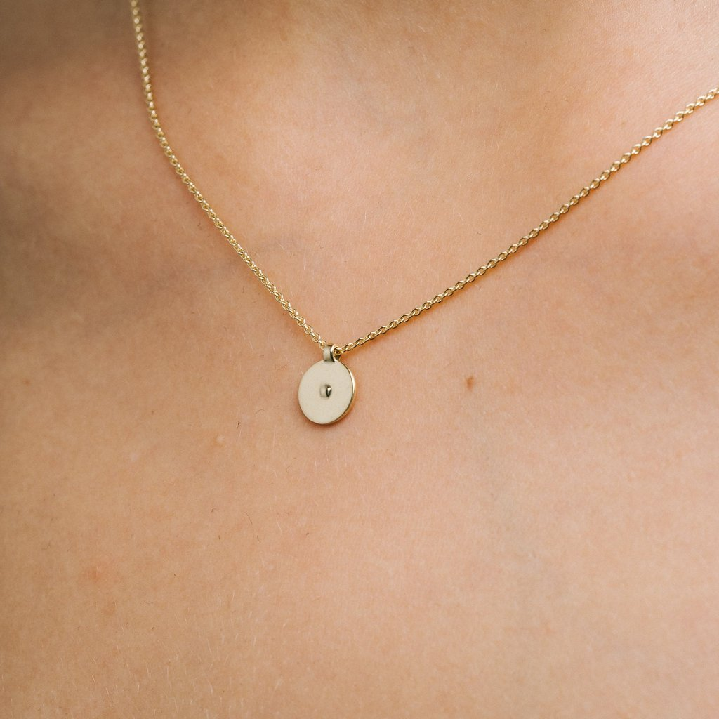 Inside Out Gold And Diamond Necklace AuroreHavenne