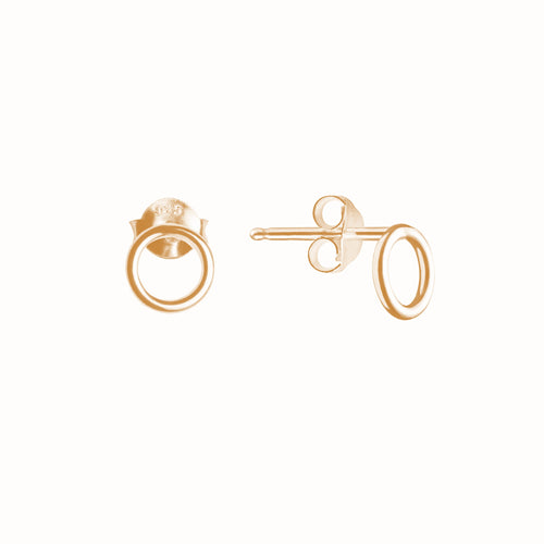 Gold Plated Silver Mini Circle Earrings