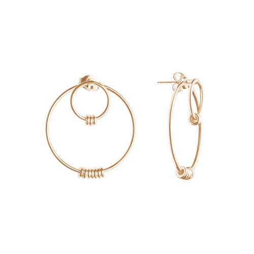 Gold Plated Silver Floreana Earrings