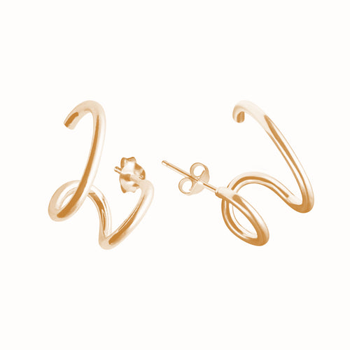 Gold plated silver Gloria earrings