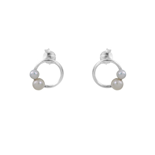 Aurore Havenne Halo Nymphea earrings bijou simple minimalist jewellery silver Wedding belgian designer