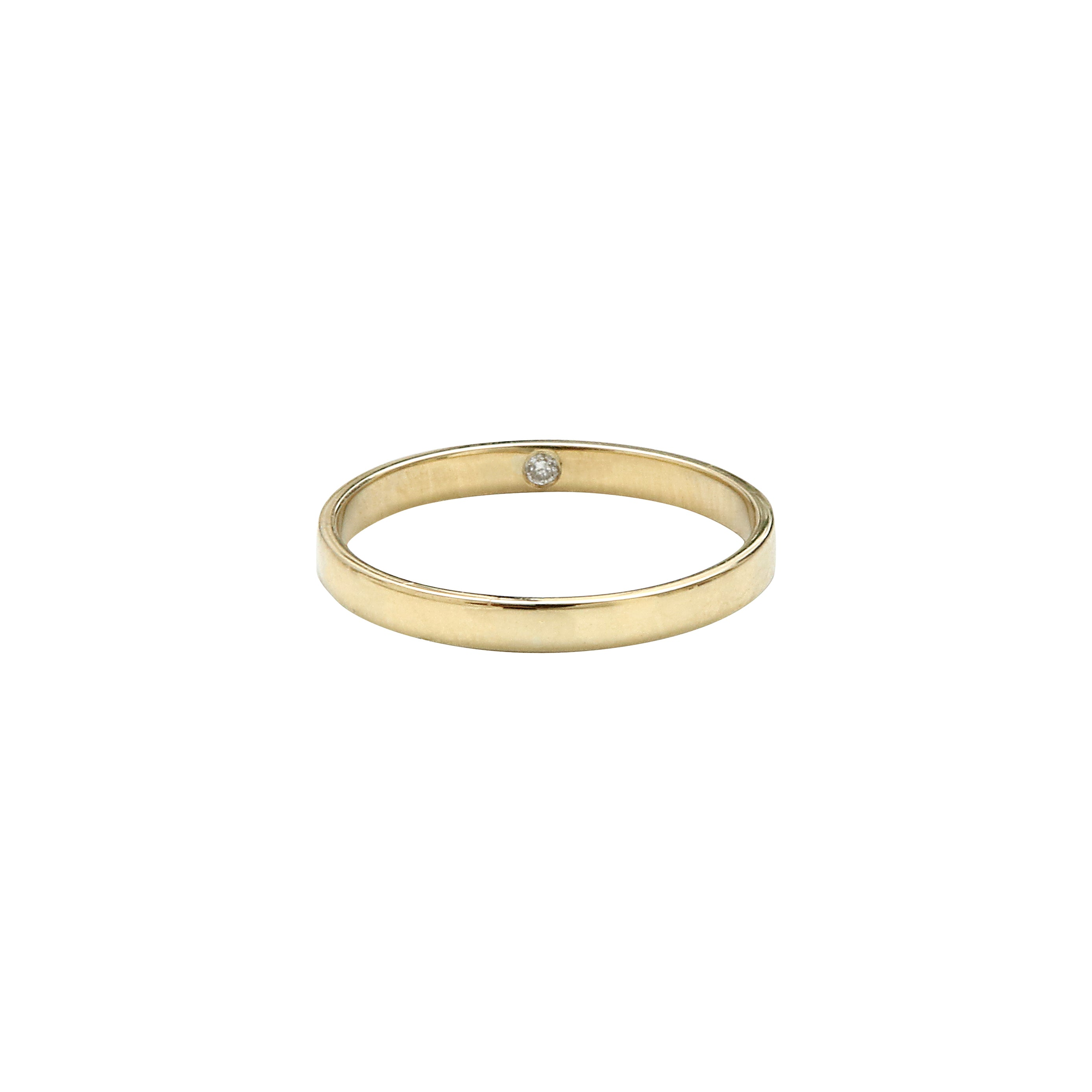 Aurore Havenne Gold and Diamond ring minimalist jewellery belgian designer bijou simple fin