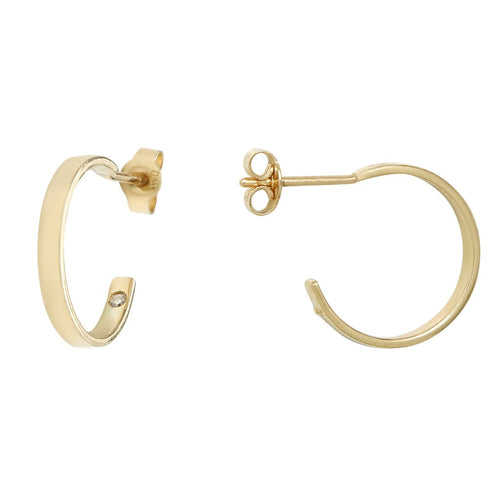Aurore Havenne Gold and Diamond earrings minimalist jewellery belgian designer