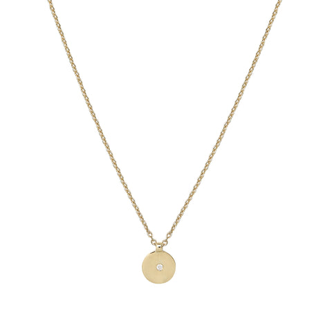 Tubular Gold And Diamond Vertical Necklace