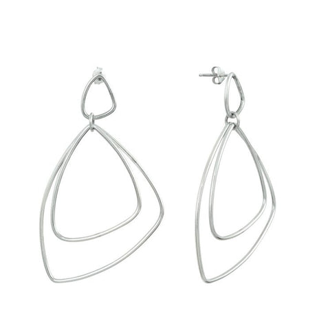 Silver Trinity Earrings