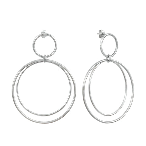 Silver Claudia Earrings