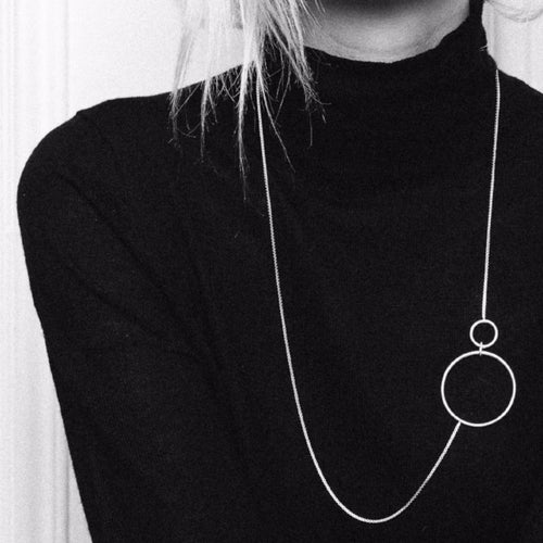 Aurore Havenne Silver Voluptueuses necklace minimalist jewellery bijou simple