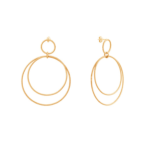 Gold plated silver Calista Versatile Twist