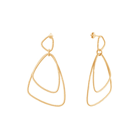Gold Plated Silver Mona Earrings
