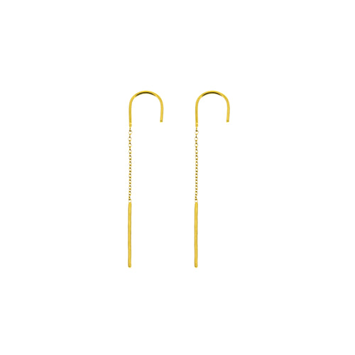 Aurore Havenne Lines gold plated silver earrings bijou fin simple jewellery minimalist