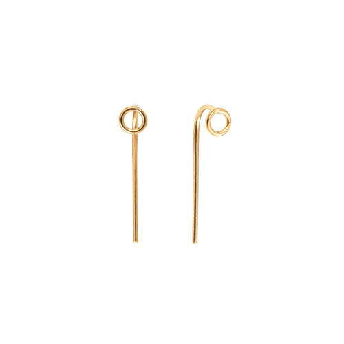 Aurore Havenne Gold plated silver earrings jewellery minimalist bijou fins simple