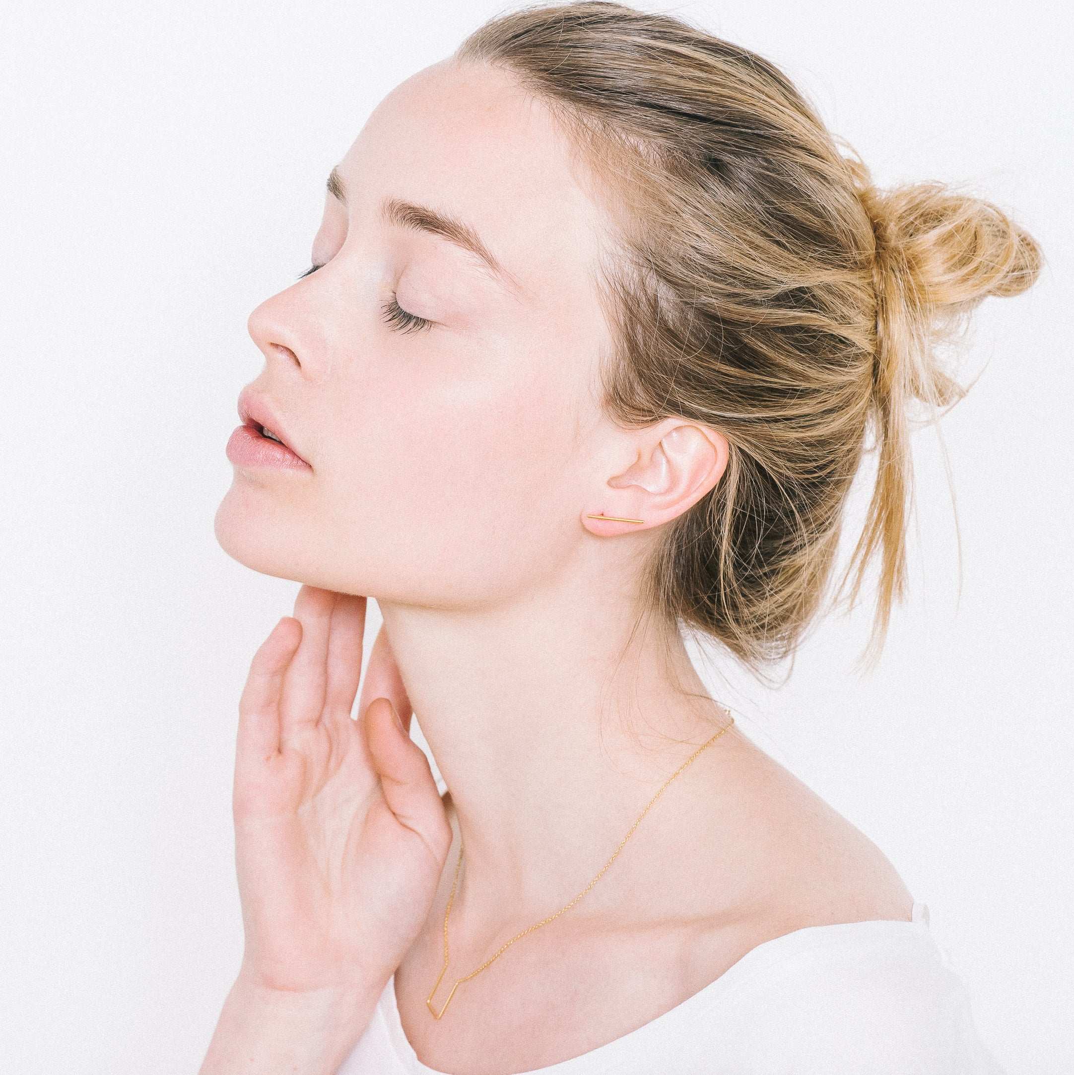 Lines Earrings Aurore Havenne Gold plated silver bijou fins simple jewellery