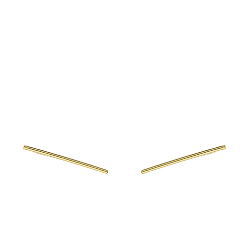 Lines Earrings Aurore Havenne Gold plated silver bijou simple jewellery
