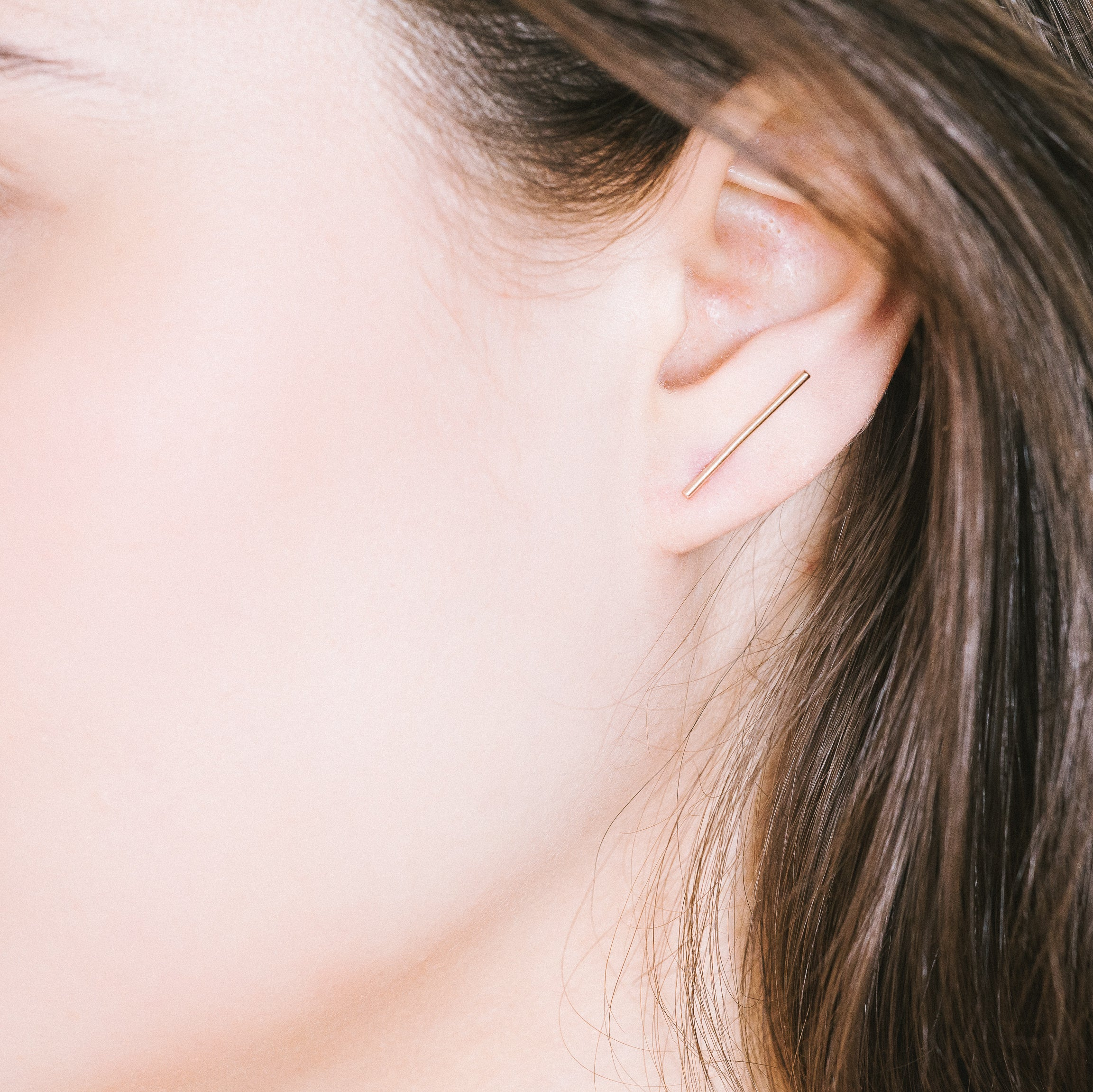 Lines Earrings Aurore Havenne Gold plated silver bijou simple jewelry