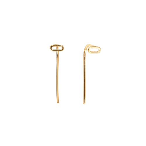 Aurore havenne gold plated silver Lines earrings bijou fin simple jewellery minimalist