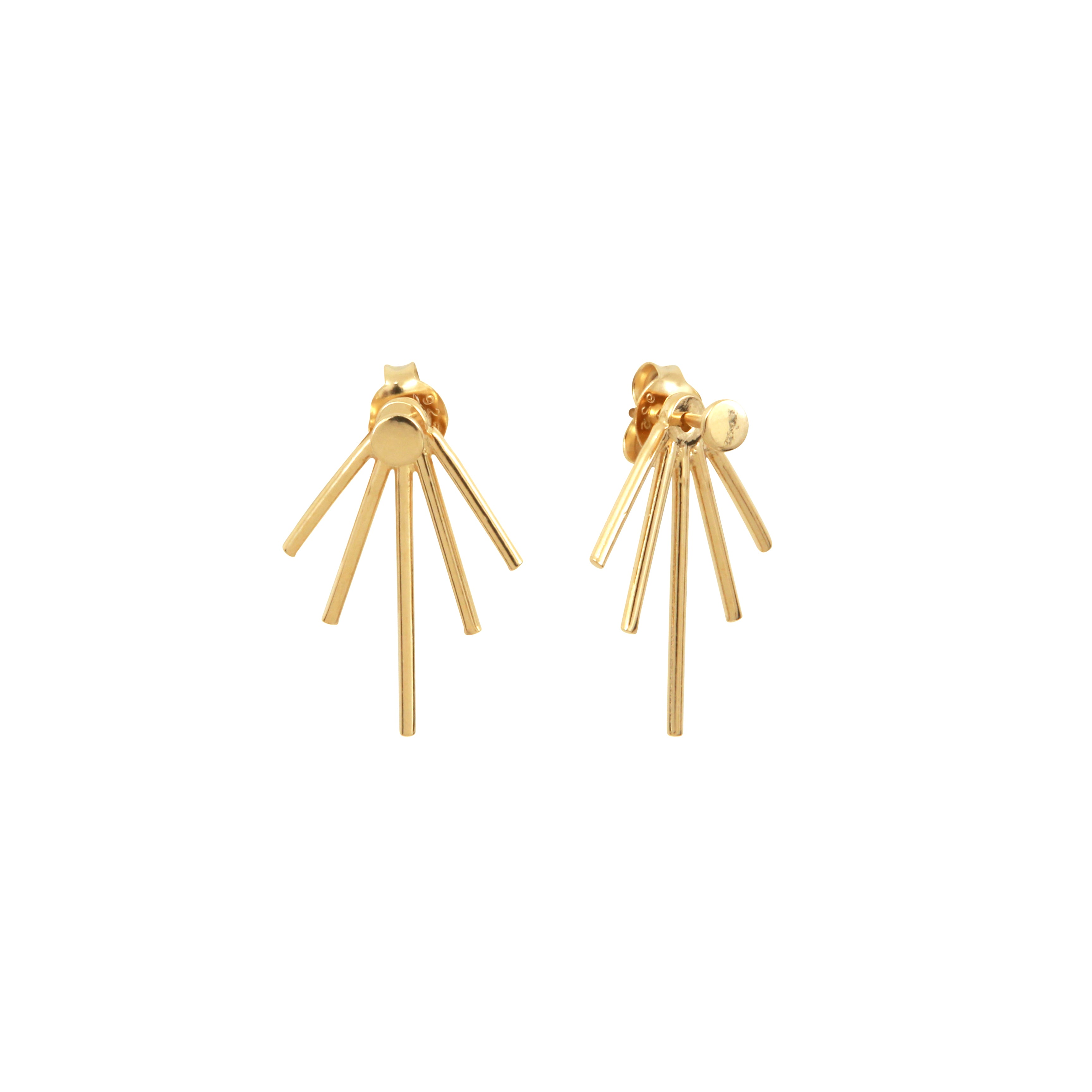 Lines Earrings Aurore Havenne Gold plated silver bijou simple jewellery minimalist