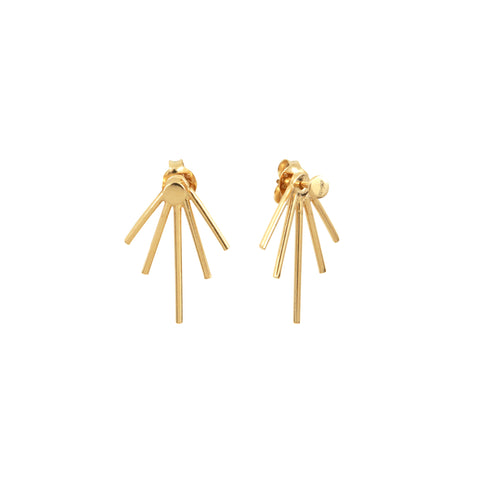 Gold Plated Silver Big Raindrops Earrings