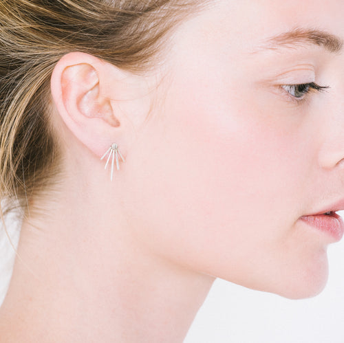 Aurore Havenne Silver Lines earrings minimalist jewellery bijou simple