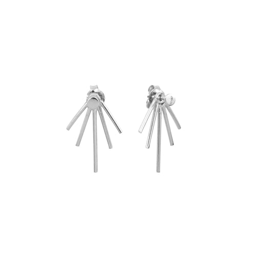 Aurore Havenne Silver Lines earrings minimalist jewellery bijou fins simple