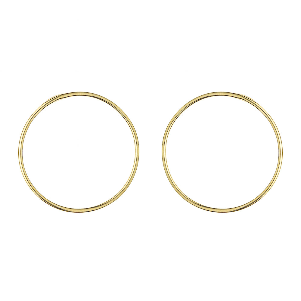 Aurore Havenne Gold plated Silver Wire earrings minimalist jewelry bijou simple