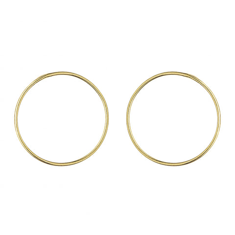Gold Plated Silver Small Circle Earrings