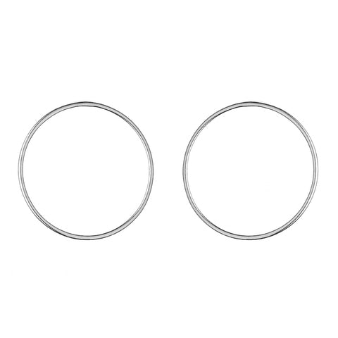 Silver Small Circle Earrings