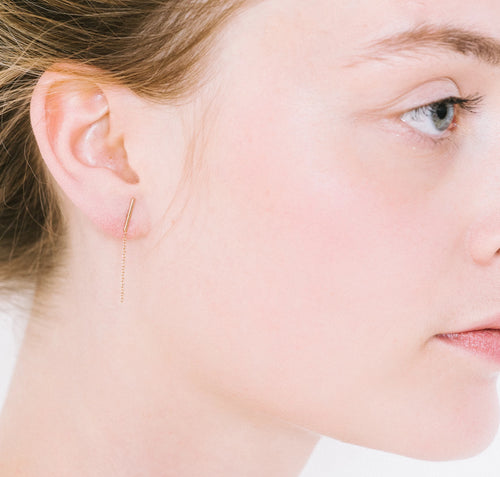 Infinity Earrings Aurore Havenne Gold plated silver bijou simple jewelry minimalist belgian designer