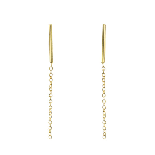 Infinity Earrings Aurore Havenne Gold plated silver bijou simple jewellery minimalist